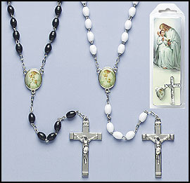 First Communion Rosary in Snap Pack