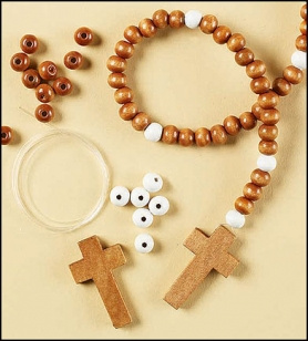 Wooden Rosary Craft Kit