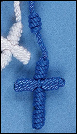 Knotted Cord Rosary - Blue