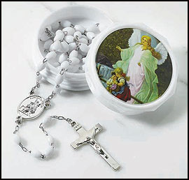 Guardian Angel Rosary in Two-Piece Case