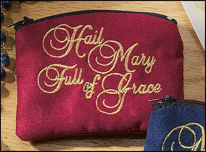 Hail Mary Full of Grace Rosary Case