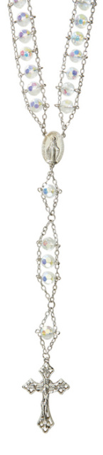 Crystal Faceted Glass Ladder Rosary