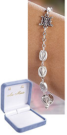 Miraculous Rosary Bracelet - Silver