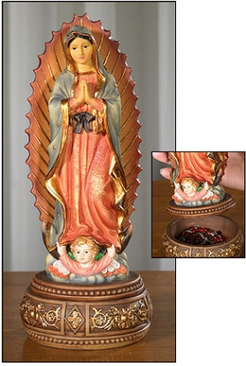 Our Lady of Guadalupe Rosary Box/Holder