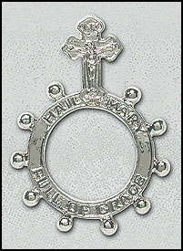Hail Mary Full of Grace Rosary Ring